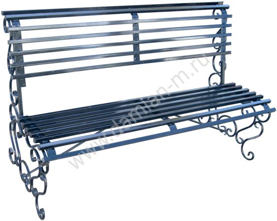Кованая скамейка со спинкой