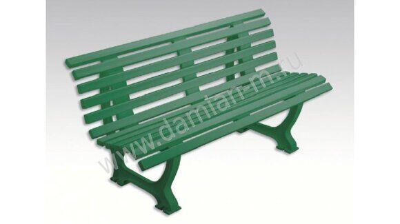 Пластиковая скамейка со спинкой
